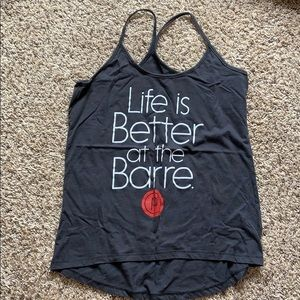 Life is Better at the Barre tank Small